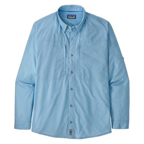 Patagonia Men's Long-Sleeved Sun Stretch Shirt Chambray Lago Blue