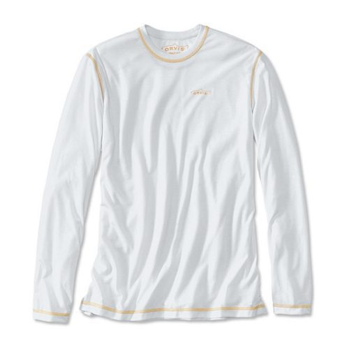 Orvis Men's drirelease Long-Sleeved Casting T-Shirt White