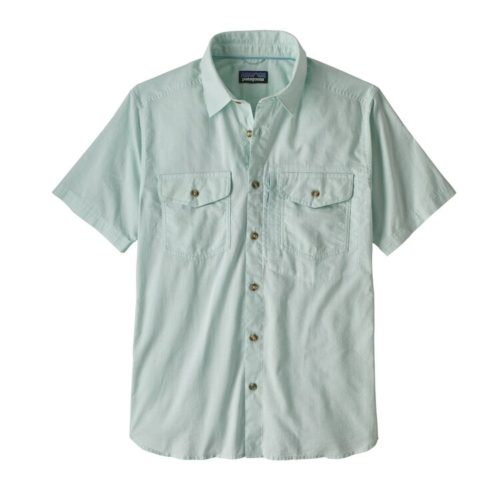 Patagonia Men's Cayo Largo Shirt II Chambray Big Sky Blue