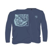 Flood Tide Co Legacy King Long Sleeve T-Shirt Navy