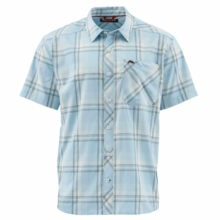 Simms Outpost Short Sleeve Shirt Mist Plaid