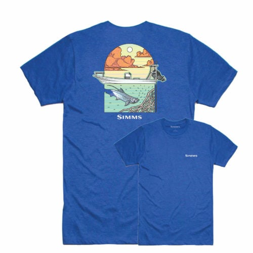 Simms Underwood Ocean T-Shirt Royal Heather