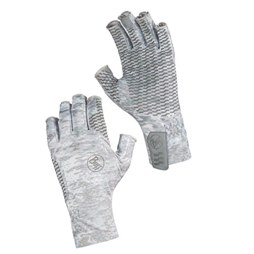 Buff Aqua Gloves White
